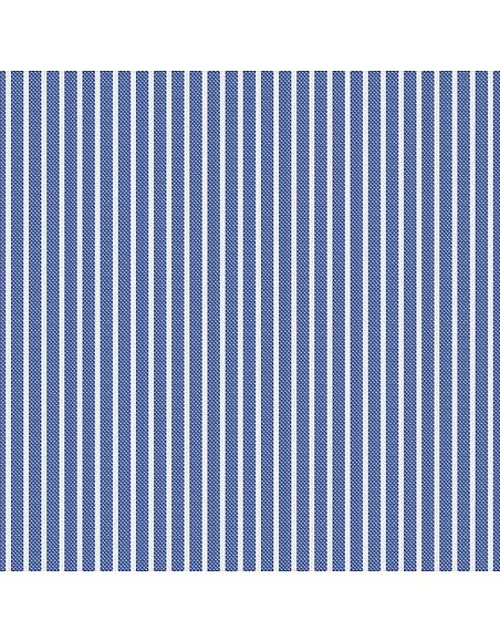 Forzieri Blue White Striped 2 Ply Oxford Cotton