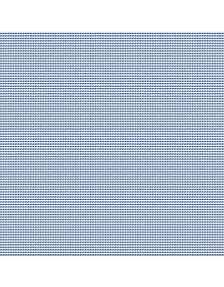 Forzieri White Blue Micro Pattern 2 Ply Twill Cotton