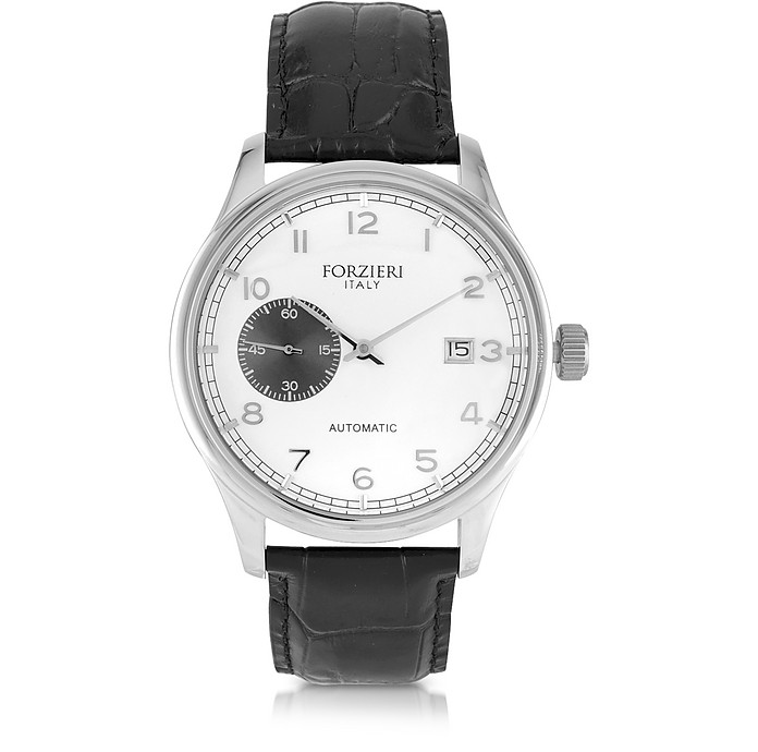 Byron Stainless Steel Men's Watch w/Croco Leather Strap - Forzieri
