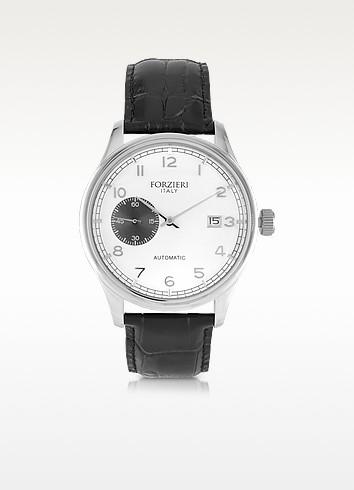 Byron Stainless Steel Men's Watch w/Croco Leather Strap - Forzieri