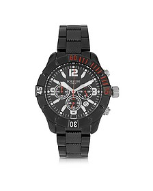 Kimi Black and Red Stainless Steel Men's Watch - Forzieri