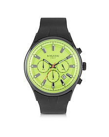 Falcon Chrono Men's Watch w/Rubber Strap - Forzieri