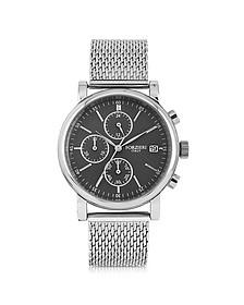 Berlino Silver Tone Stainless Steel Men's Chrono Watch - Forzieri