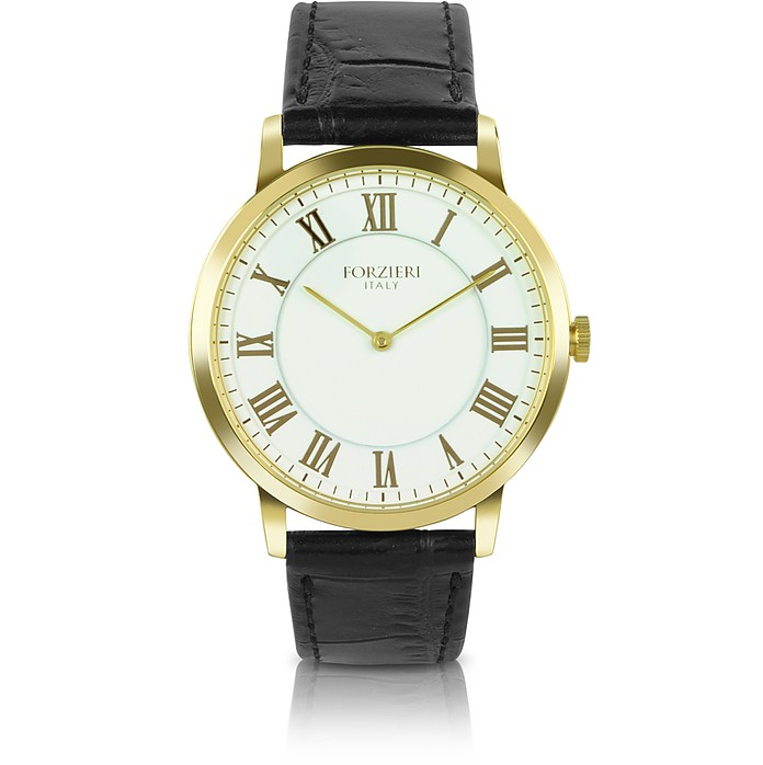 Donatello - Slim Leather Watch - Forzieri