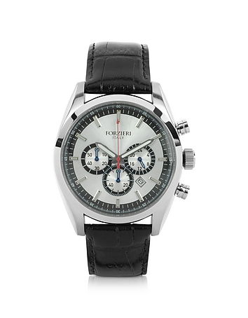Forzieri - Spider - Men's Stainless Steel Silver Dial Chronograph Watch