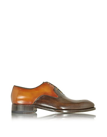Forzieri - Two-Tone Italian Handcrafted Leather Oxford Shoe