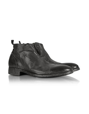 Ebony Washed Leather Boots