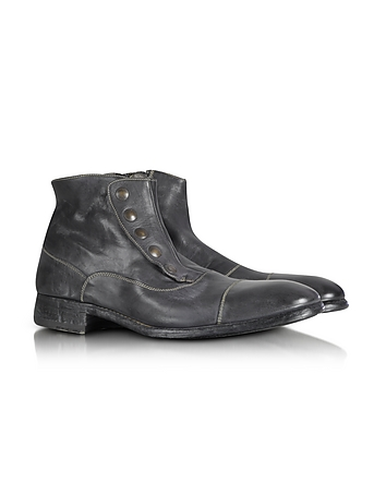 Forzieri - Smoke Grey Washed Leather Boots