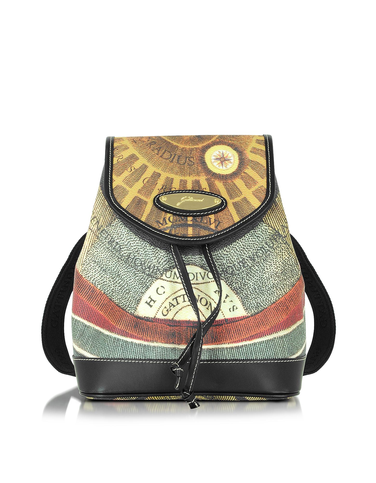 Фото Planetarium - Маленький Рюкзак из Ткани и Кожи. Купить с доставкой