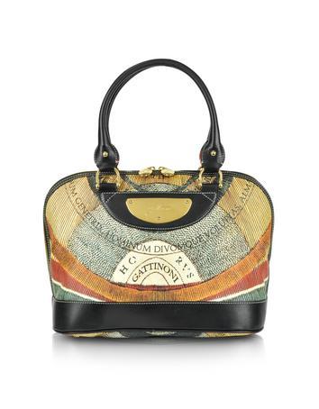 Planetarium - Large Multicolor Satchel Bag