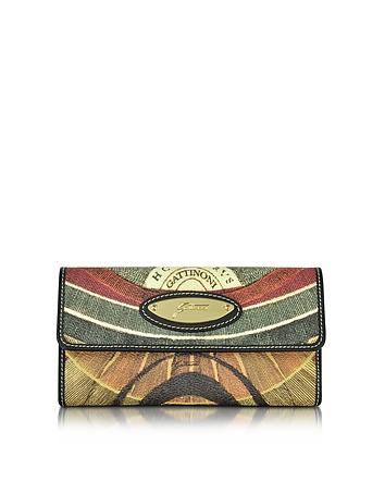 Gattinoni - Planetarium Coated Canvas Zip Pocket Women's Wallet