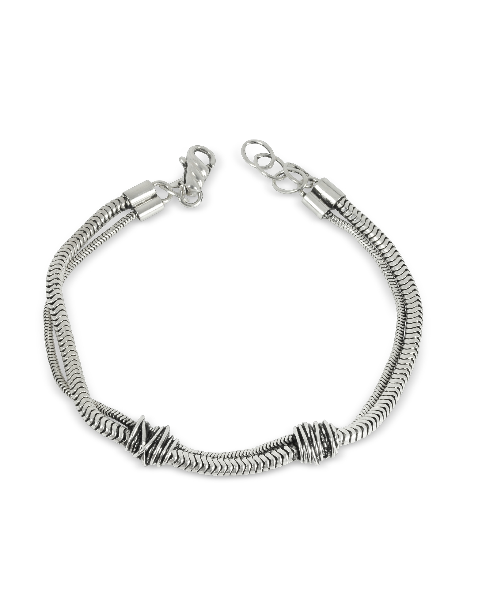 Etruscan Knot Silver Chain Bracelet