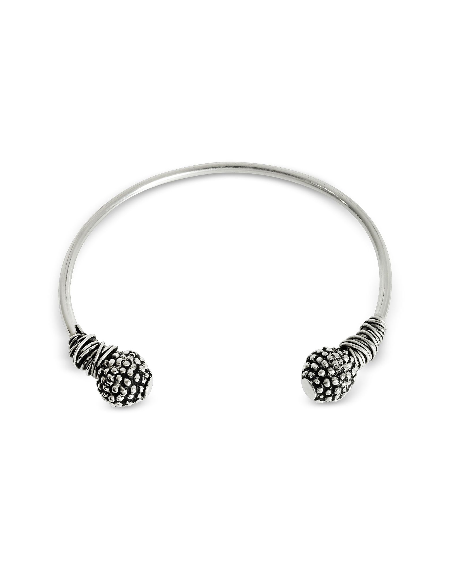 Etruscan Knot Silver Bangle