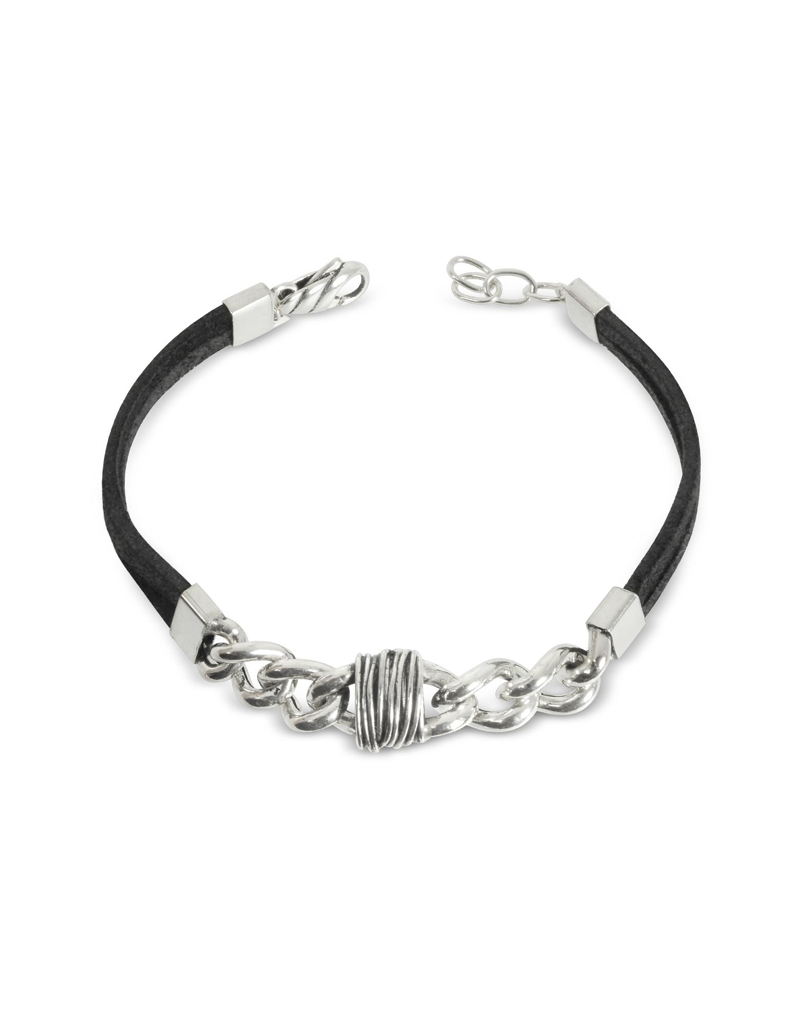 Giacomo Burroni Men's Bracelets, Etruscan Knot Leather Bracelet