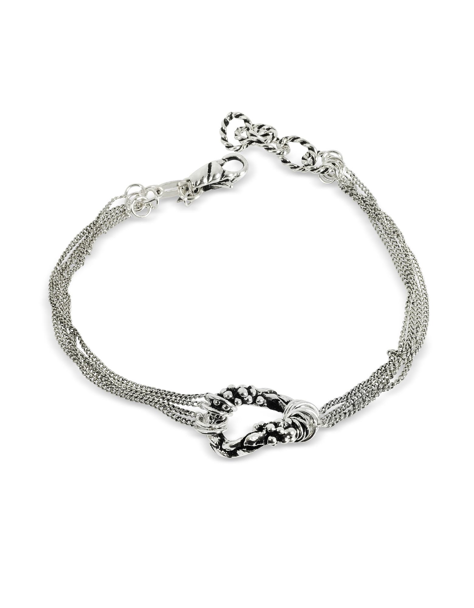Multi Chain Bracelet w/Ring