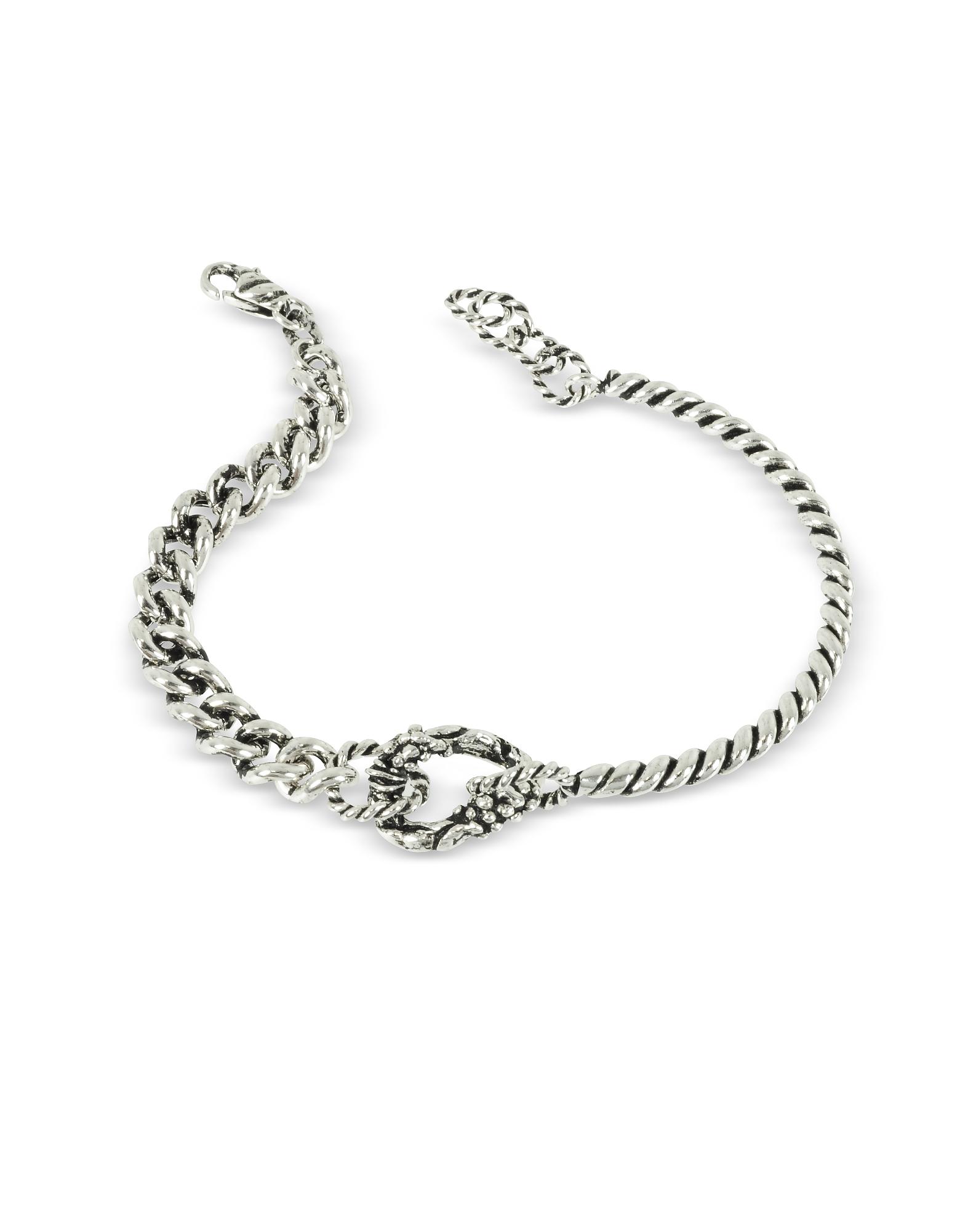 Giacomo Burroni Men's Bracelets, Semi Rigid Twisted Bracelet