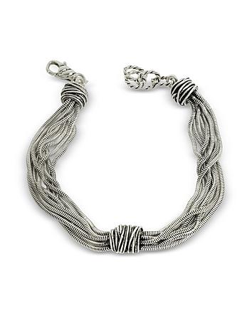 Multi Chain Bracelet w/Etruscan Knot