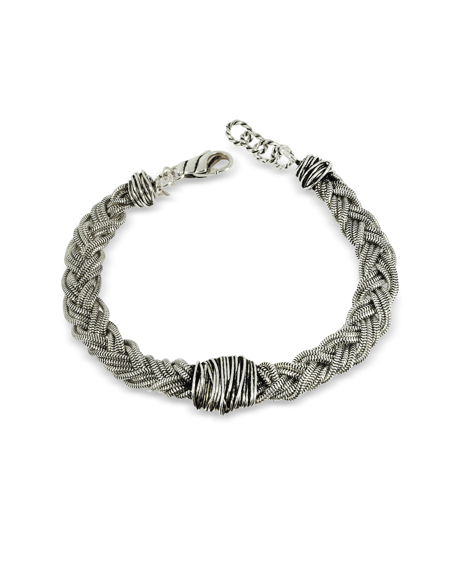 Sterling Silver Braid w/Etruscan Knot