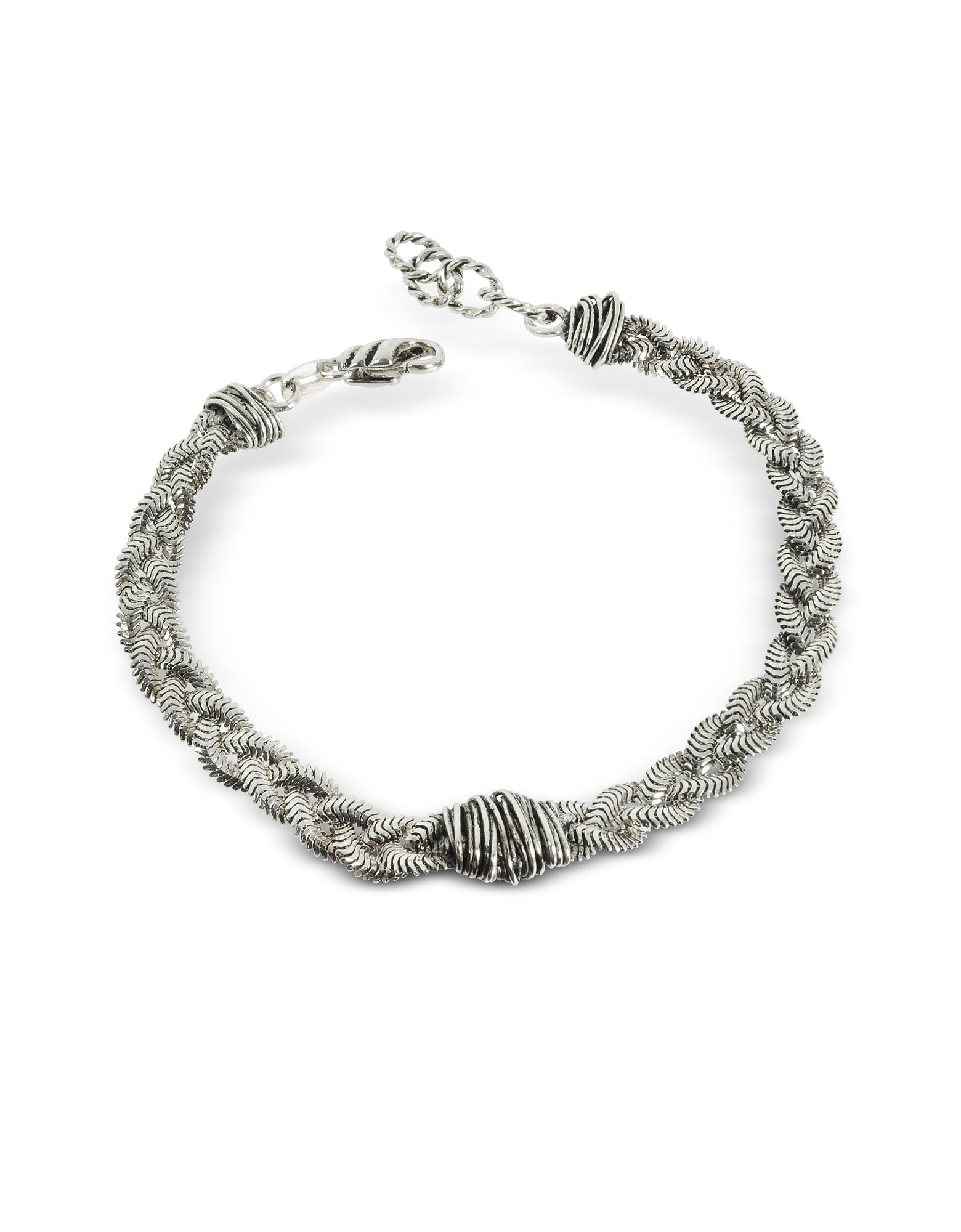 Giacomo Burroni Men's Bracelets, Braid Bracelet w/Etruscan Knot