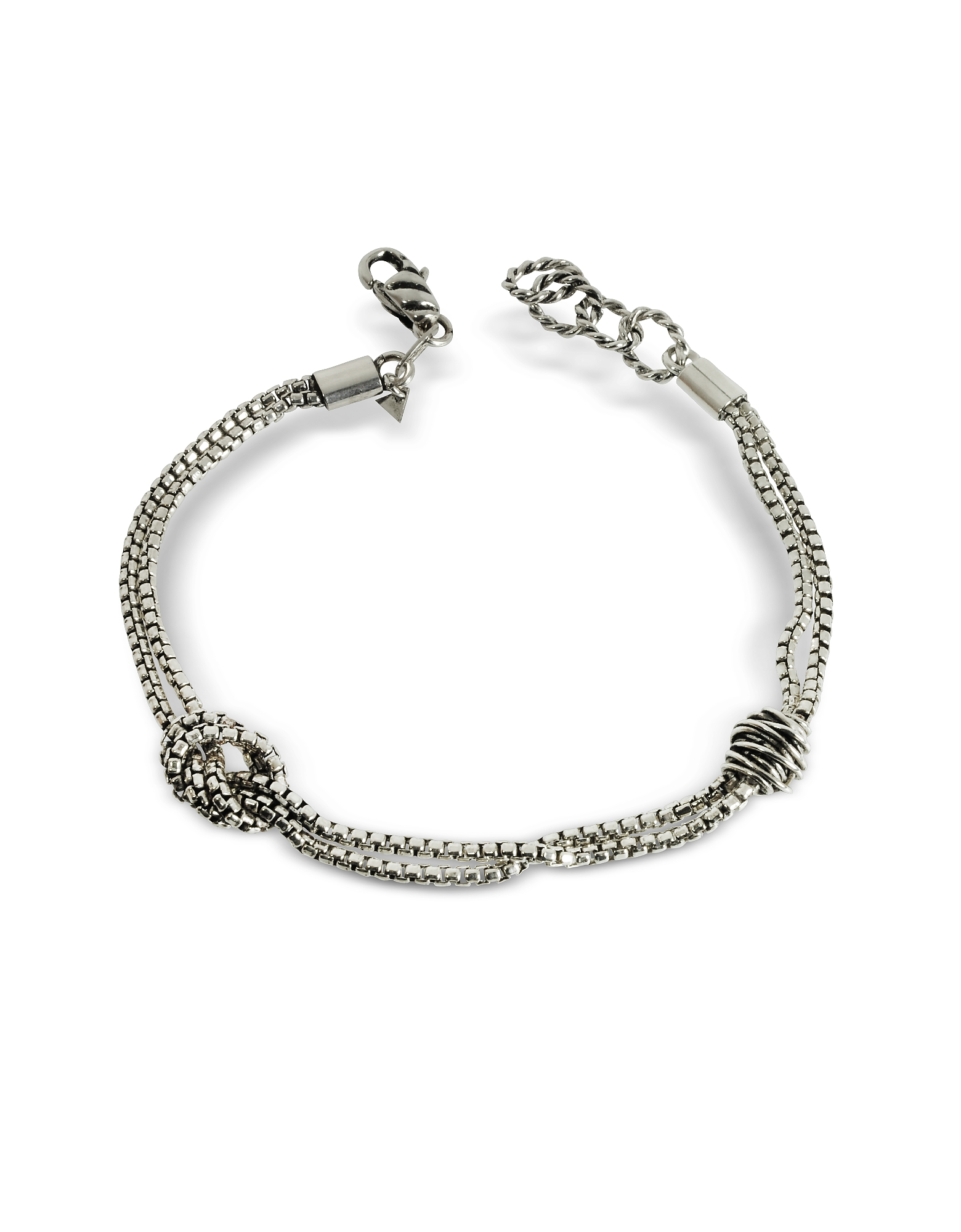 The Two Knots Bracelet, Silver