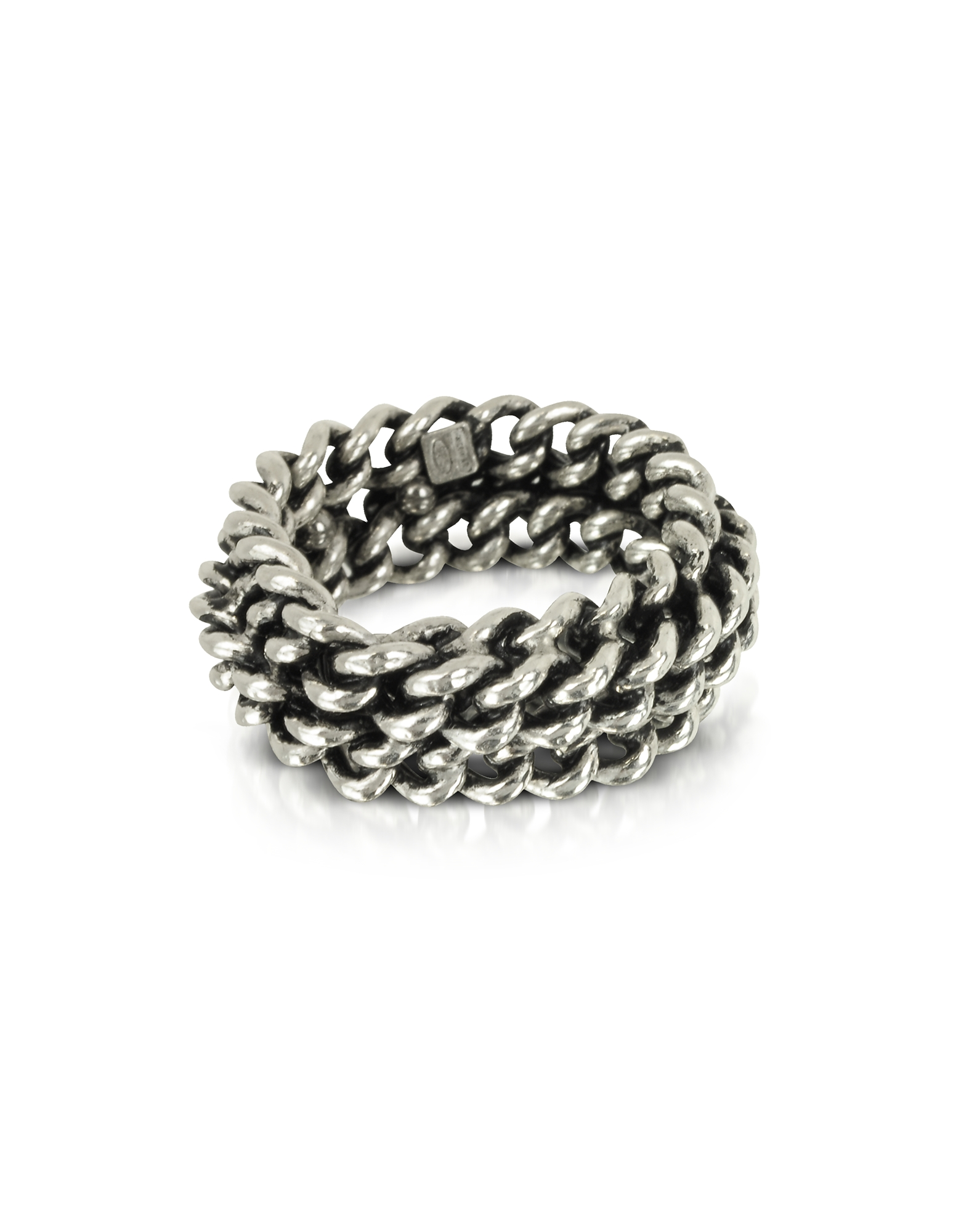 Sterling Silver Links Ring