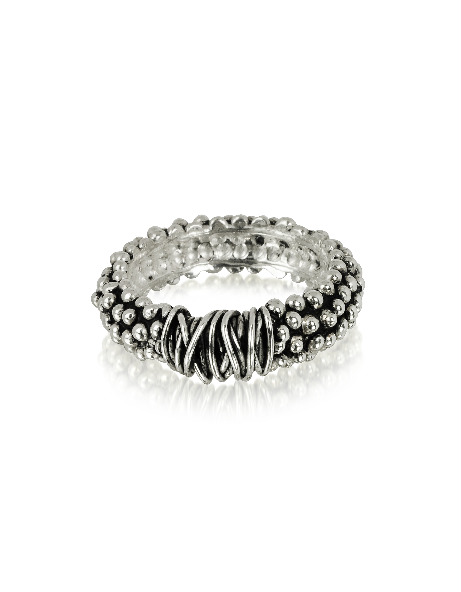 Sterling Silver Ring. Sterling Silver Ring crafted in oxidized sterling silver, is a modern blend of traditional Etruscan techniques and minimalist de