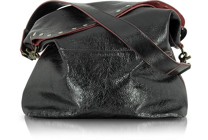 Bahia Studded Leather Shoulder Bag - Gerard Darel