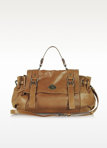 Ethon 24 Hours Saint Germain Brown Leather Satchel - Gerard Darel