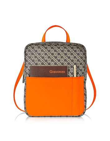 Bags-Julieta Millerighe Fabric and Eco Leather Backpack