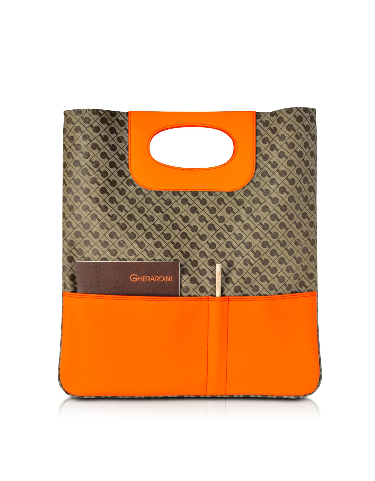 Julieta Millerighe Fabric and Eco Leather Flat Tote Bag - Gherardini