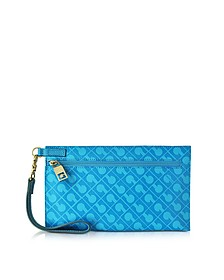 Gadget Softy Fabric and Leather Cosmetic Clutch - Gherardini