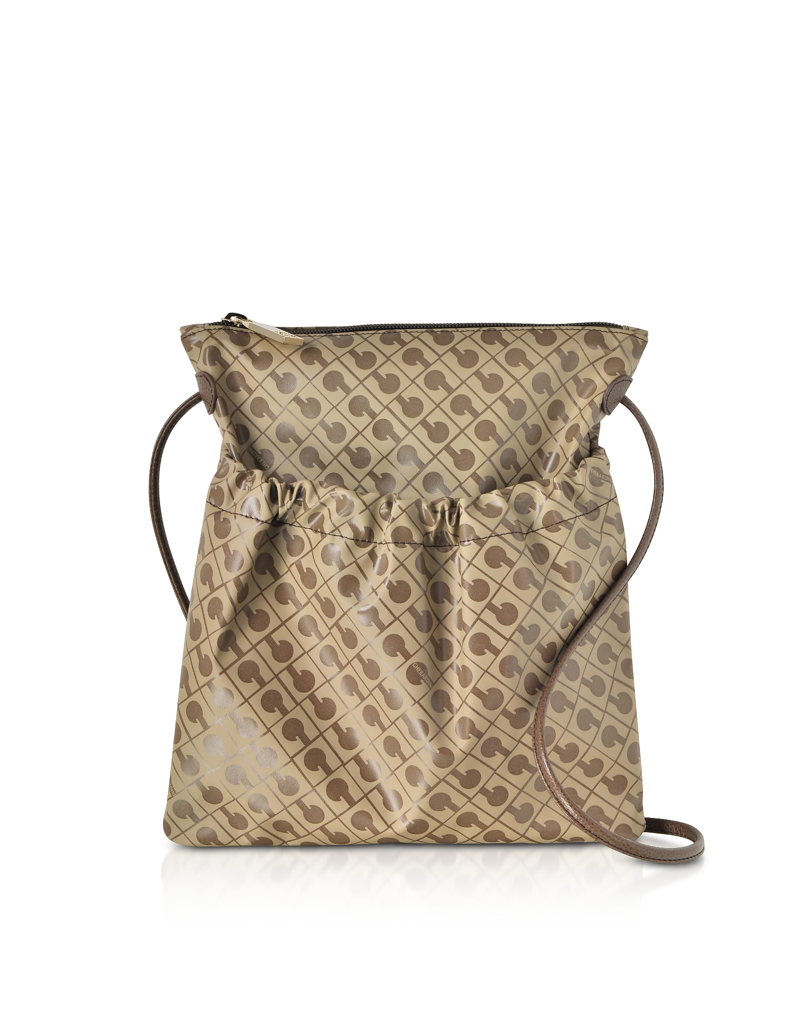 Gherardini Handbags, Signature Coated Canvas and Leather Softy Crossbody Bag