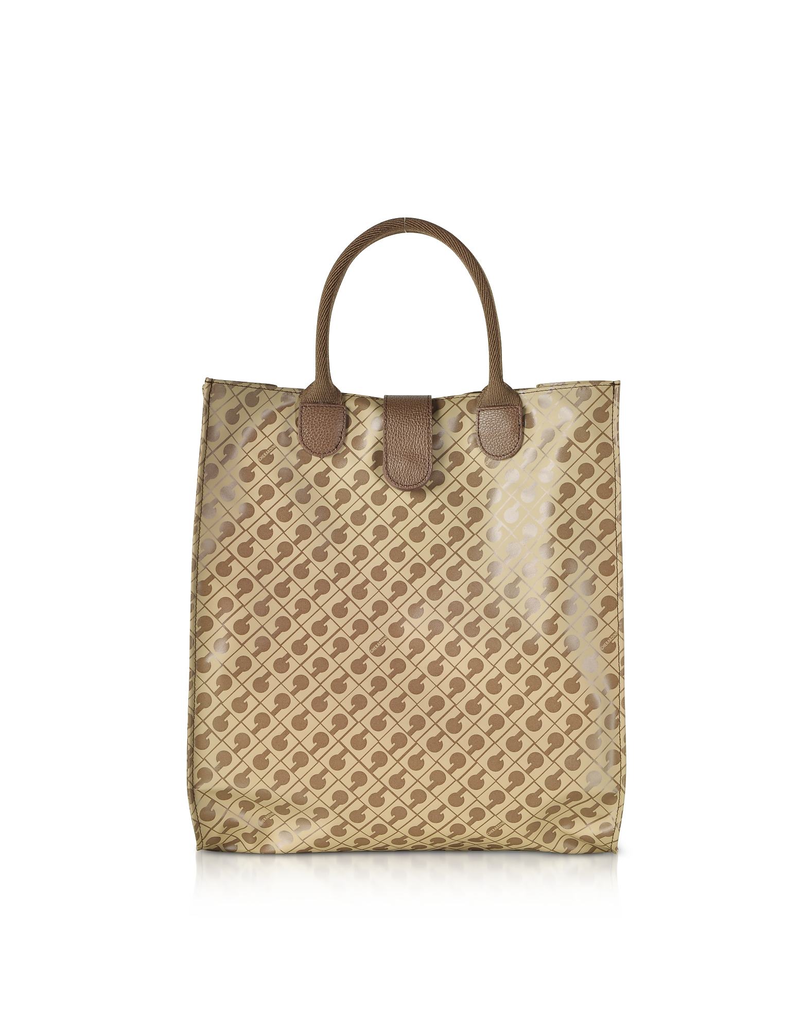 Signature Coated Canvas Softy Foldable Tote Bag