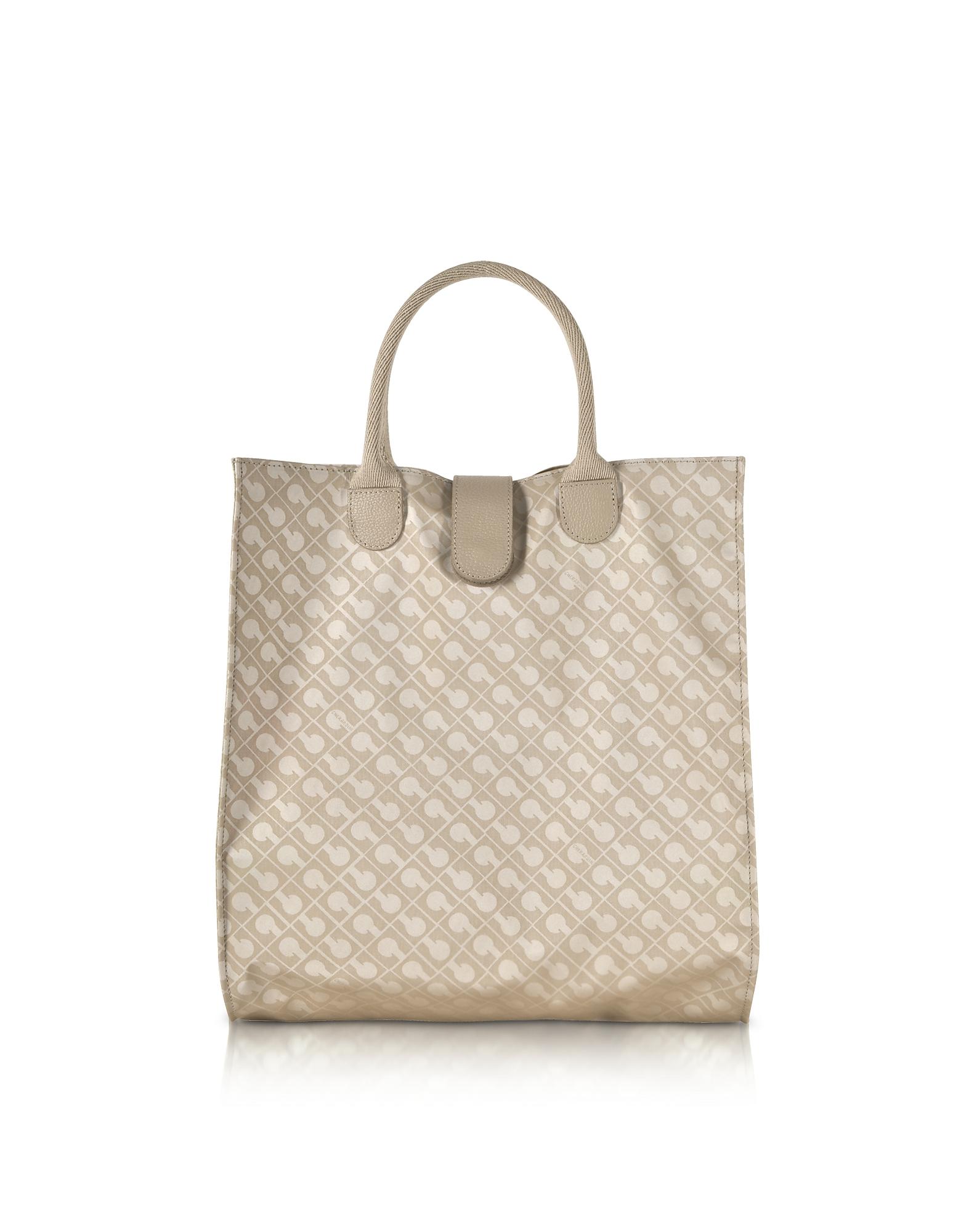 Shopping Bag in Tessuto Softy e Pelle
