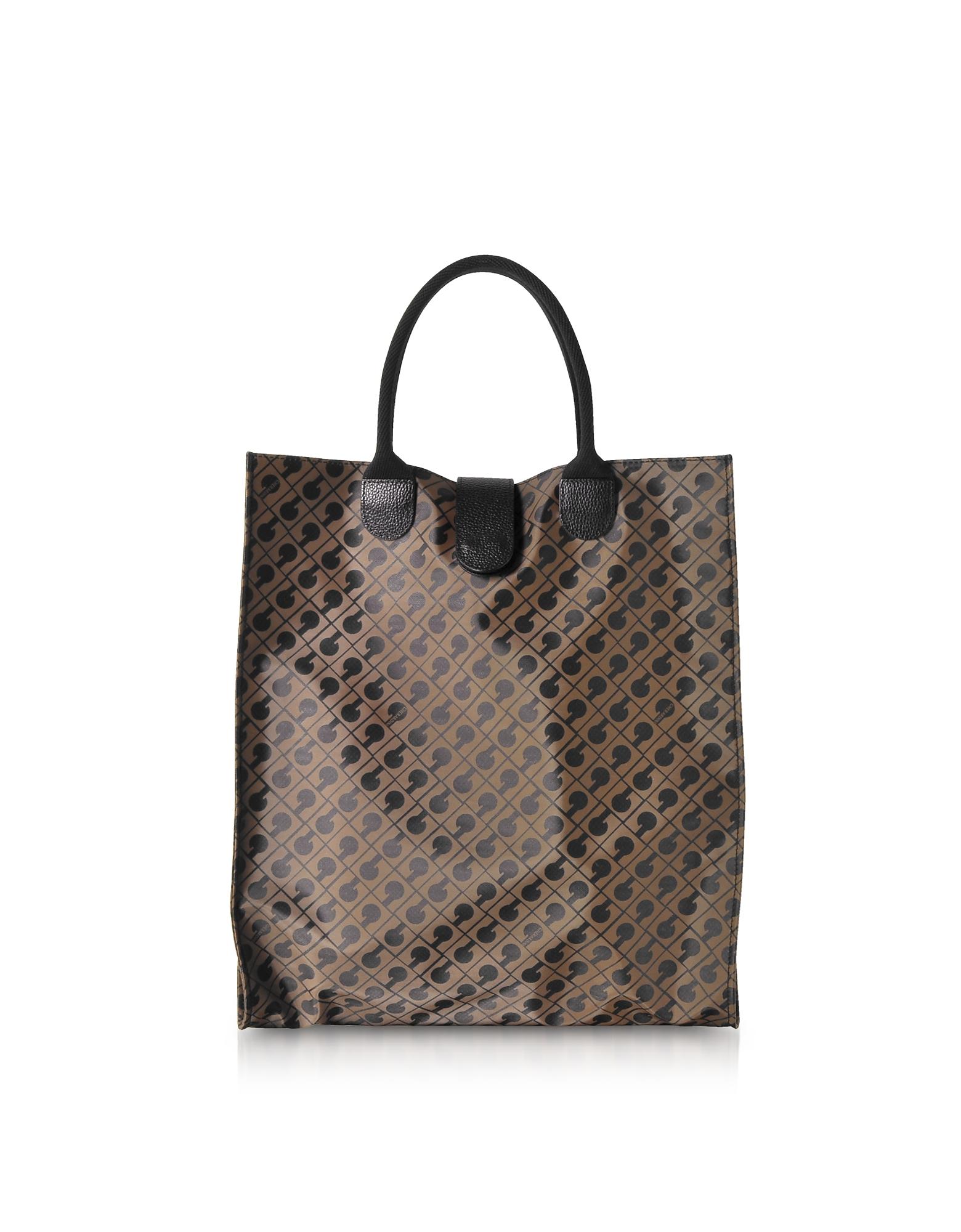 Gherardini Handbags, Signature Coated Canvas Softy Foldable Tote Bag