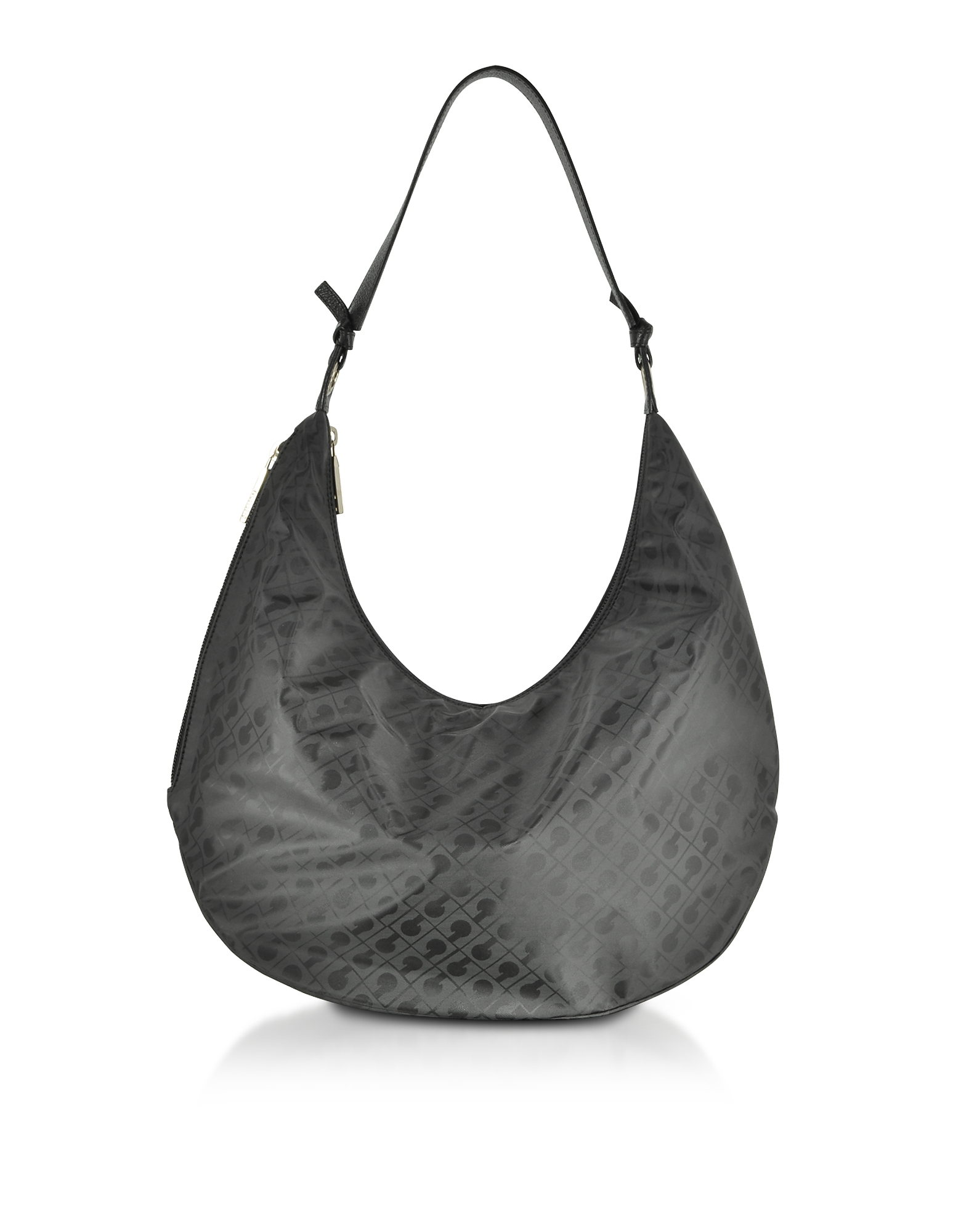 Image of Gherardini Designer Handbags, Signature Coated Canvas and Leather Softy Shoulder Bag
