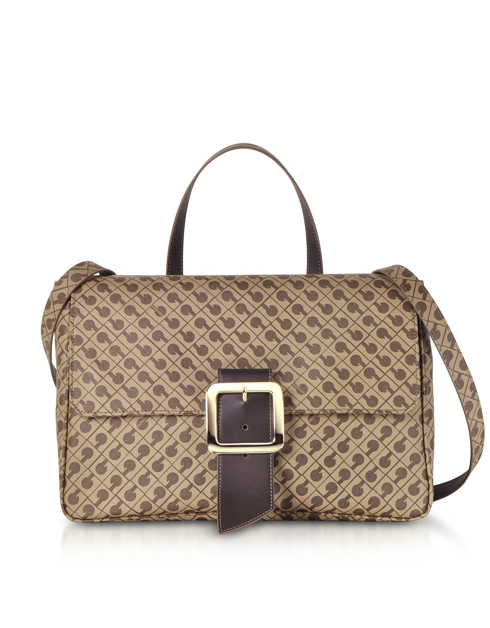 Image of Gherardini Designer Handbags, Koko Signature Saffiano Eco Leather Top-Handle Stachel Bag