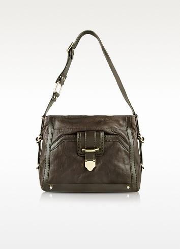 Tabasco - Dark Brown Leather Shoulder Bag - Ferre' Milano
