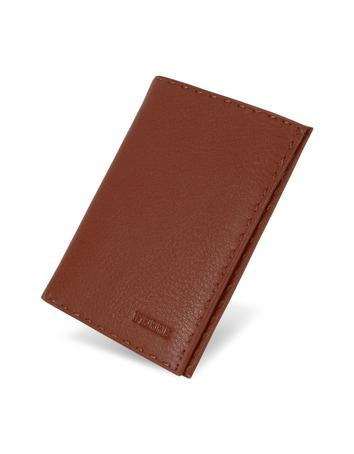 Gianfranco Ferre Logoed Stitched Genuine Leather Breast Coat Wallet