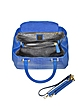 Blue Python and Leather Tote w/Detachable Shoulder Strap - Ghibli