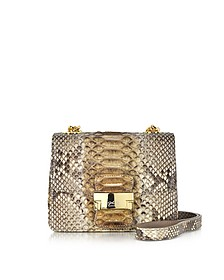 Brown Python Mini Crossbody Bag - Ghibli