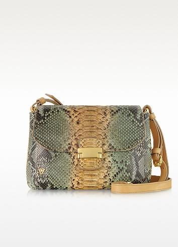 Python Leather Shoulder Bag - Ghibli