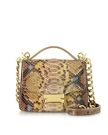 Golden Python Leather Shoulder Bag - Ghibli