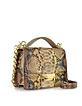 Golden Python Leather Shoulder Bag - Ghibli