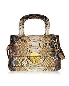 Golden Brown Python Shoulder Bag - Ghibli