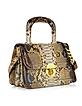 Golden Brown Python Shoulder Bag - Ghibli