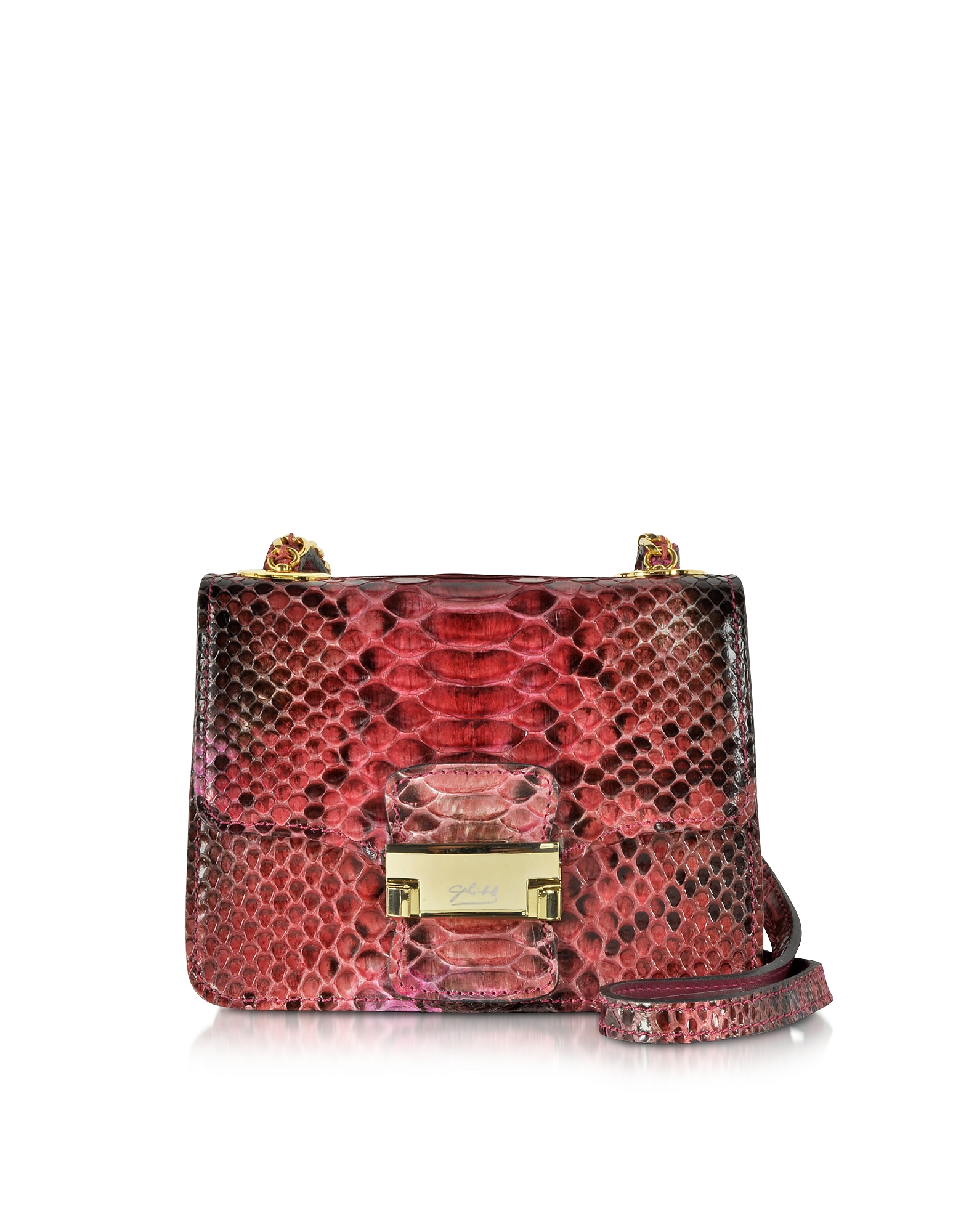 Ghibli Handbags, Python Mini Crossbody Bag