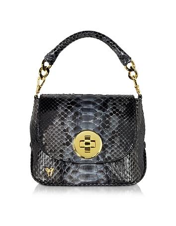 Mini Python Crossbody Bag w/Detachable Shoulder Strap