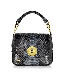 Mini Python Crossbody Bag w/Detachable Shoulder Strap - Ghibli