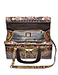 Brown and Pink Python Satchel Bag w/Detachable Shoulder Strap - Ghibli